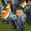 School boys with the Indian Flag — Stock Photo #43773235