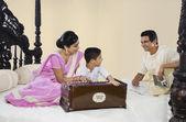 Bengali family — Stock Photo