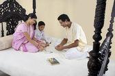 Famiglia Bengalabengalska rodzina — Foto Stock