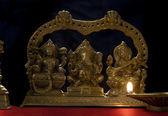 Ganesh , Lakshmi and Saraswati idol — Stock Photo