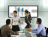 Businesspeople in a meeting — Stock Photo