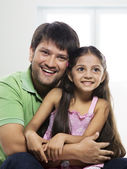 Father and daughter enjoying — Stock Photo