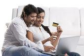 Para bankowości internetowej — Zdjęcie stockowe
