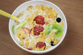 Breakfast cereal in a bowl — Stock Photo
