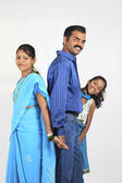 Maharashtrian family — Stock Photo