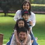 Family enjoying at a picnic — Stock Photo #45814815