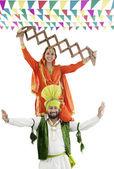 Sikh couple enjoying themselves — Stock Photo