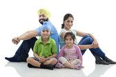 Sikh family — Stock Photo