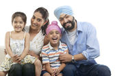 Sikh family — Stock Photo