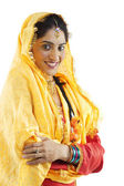 Sikh woman dancing — Stock Photo