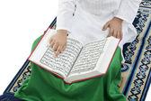 Muslim boy praying — Stock Photo