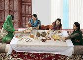 Muslim women posing — Stock Photo