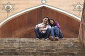 Couple at Humayuns Tomb — Stock Photo