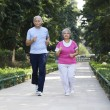 Постер, плакат: Old couple doing exercises