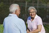 老夫婦のリラックス — ストック写真