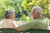 Old couple relaxing — Stock Photo