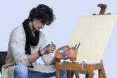 Junge Künstler Malerei — Stockfoto