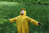 Boy wearing raincoat — Stock Photo