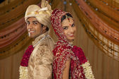Newly married Indian couple — Stock Photo