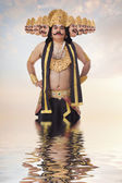 Man dressed as Raavan — Stock Photo