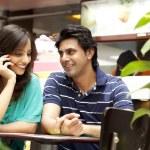 Couple enjoying their tea together — Stock Photo #46057493