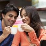 Couple enjoying their tea together — Stock Photo #46057553
