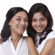 Smiling mother and daughter — Stock Photo #46448011