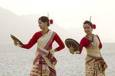 Bihu women dancing — Stock Photo