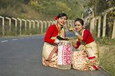 Bihu dancers — Stock Photo