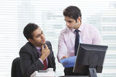 Businessmen in discussion — Stock Photo