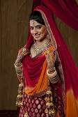 Young Indian bride — Stock Photo