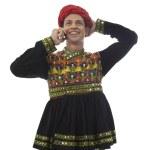 Male dandiya dancer talking on the phone — Stock Photo #47484325
