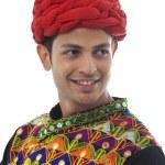 Male dandiya dancer — Stock Photo #47484955