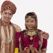 Gujarati bride and groom — Stock Photo #47489195
