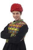 Männliche Dandiya Tänzer — Stockfoto