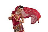 Female dandiya dancer — Stock Photo