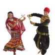 Couple with sticks dancing — Stock Photo #47490253