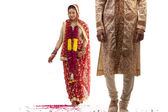 Gujarati bride and groom — Stock Photo