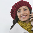 Young woman talking on cell phone — Stock Photo #47501237