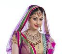 Portrait Indian bride — Stock Photo