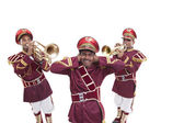 Bandmasters playing on a trumpet — Fotografia Stock