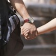 Couple holding hands in a park — Stock Photo #51101041