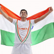 Male medalist with Indian flag — Stock Photo #51106471