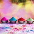 Bows of colorful Holi powder — Stock Photo #51108697