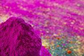 Bows of colorful Holi powder — Stock Photo