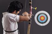 Young male archer — Stock Photo
