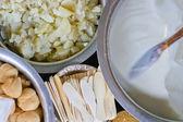 Ingredientes y yogur — Foto de Stock