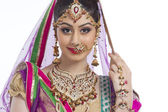 Shy Indian bride — Stock Photo