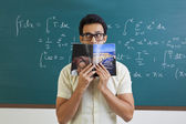College student with book — Stock Photo
