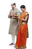 Maharashtrian couple — Stock Photo